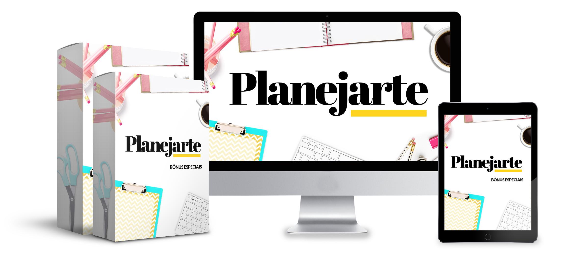 Planejarte - Domine a arte de se planejar administre melhor seu tempo e triplique sua produtividade - Kit Planejarte